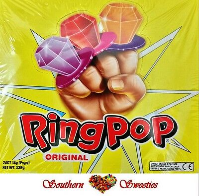Ring Pops 24 X Lollipops Candy Lollypops Party Pink Red Purple Etc Lollies