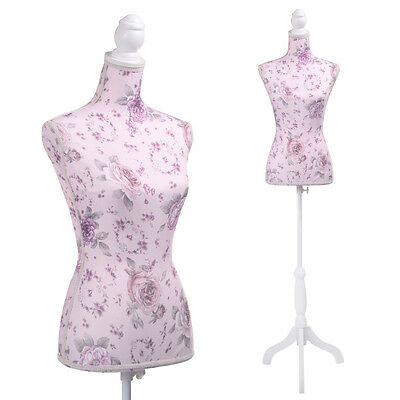 Female Mannequin Torso Clothing Display Flower Tripod Stand New
