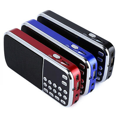Rechargeable Portable Mini Pocket Digital FM Radio with USB TF SD Card Slot LED