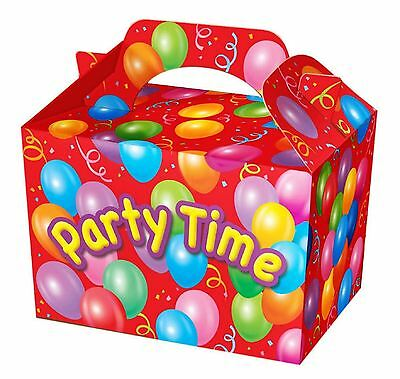 childrens party boxes bags gift birthday loot food princess pirate 10 pack
