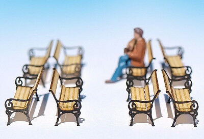 10 Built Miniature station benches HO OO scale, laser cut model train, dollhouse