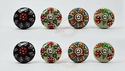 16pcs  Black,Gray & Multi color Kitchen/dress Ceramic Knobs Cupboard drawer Pull