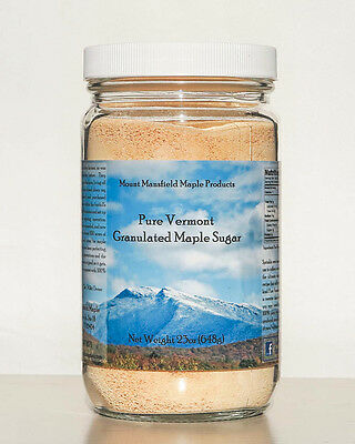 23oz Jar Pure Maple Granulated Sugar- 100% Pure Maple