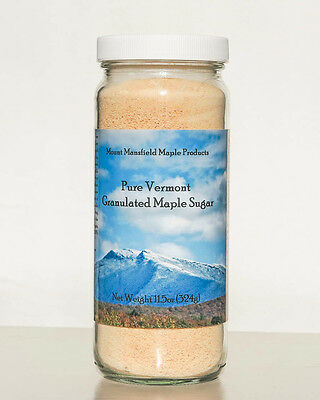 11.5oz Jar Pure Maple Granulated Sugar- 100% Pure Maple