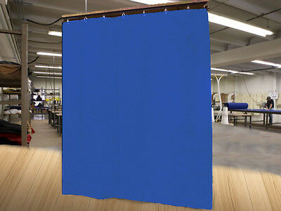 Economy Royal Blue Curtain Panel/Partition, 8 H x 4½ W, Non-FR