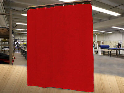 Economy Red Curtain Panel/Partition, 10 H x 4½ W, Non-FR