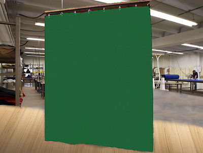 Economy Hunter Green Curtain Panel/Partition, 10 H x 4½ W, Non-FR
