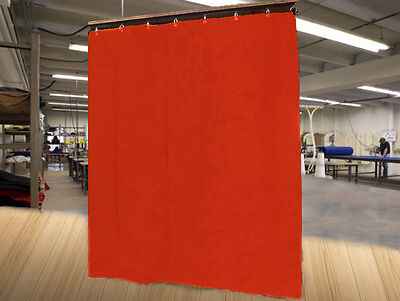 Economy Mandarin Orange Curtain Panel/Partition, 15 H x 4½ W, Non-FR