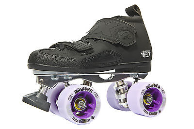 Crazy DBX 3 Venus Mens/Ladies Derby Roller Skates - Black - Size 44