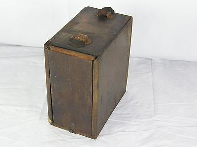 Antique Weston Electrical Wood Box Geo. Schindler Testing Laboratory Pittsburgh