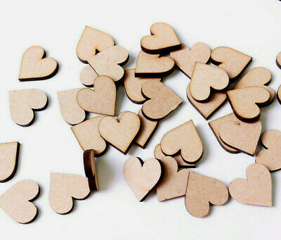 Wooden MDF Hearts Love Hearts Craft Shape Wedding Christmas Tree Decoration MDF
