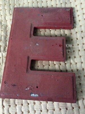 """Vintage Theater Marquee Cast Letter """"E"""" Wagner Sign Service Inc 10 Inch"""