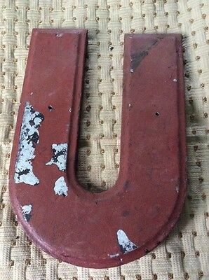 """Vintage Theater Marquee Cast Letter """"U"""" Wagner Sign Service Inc 10 Inch"""