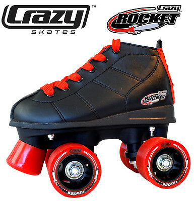 Gen3 Crazy Rocket Junior Kids Recreational Roller Skates - Black & Red Size 30
