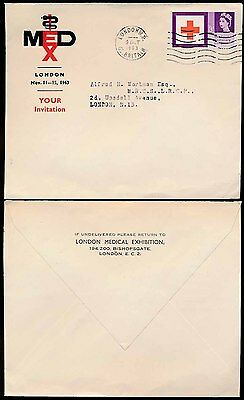 Gb 1963 London Medical Exhibition Envelope...red Cross Issue Franking