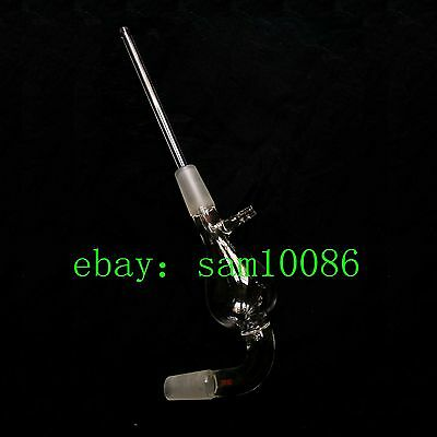 100ml,24/40,Glass Pear Shape Steam Distillation Head,Long Tube,Chemistry Labware