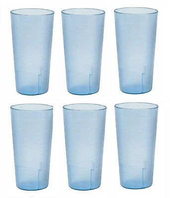 Drinking Glass Restaurant Tumbler Stackable Plastic Durable 20oz Tumblers Set