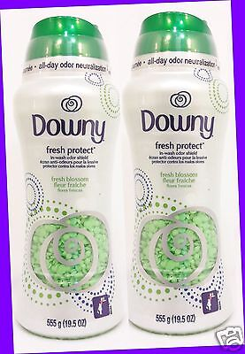 2 Downy Fresh Protect FRESH BLOSSOM In-Wash Odor Shield Odor Neutralizer Laundry