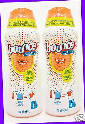 2 Bounce Bursts OUTDOOR FRESH In-Wash Scent Booster Laundry Clothes