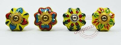 16 Pcs Yellow,Red & Mix Color Kitchen / dress Ceramic Knobs Cupboard drawer Pull