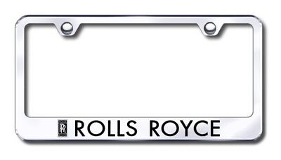 Rolls Royce Laser Etched Stainless Steel License Plate Frame AUGLFROLEC
