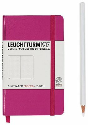 Leuchtturm1917 339601 Carnet Pocket A6 185 pages numerotees Rose Pointille
