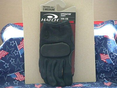 Hatch Operator Shorty SOG-L50 Gloves Black ( NEW )