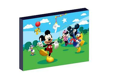 """Mickey Mouse Clubhouse 12""""x16"""" (A3) Canvas Picture"""