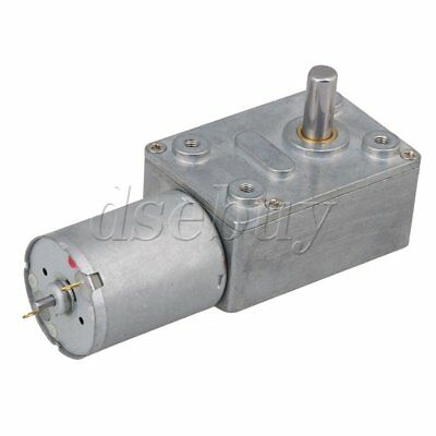 High Torque 12V DC 120rpm DC Worm Geared Motor With Gear Reducer Turbo Motor