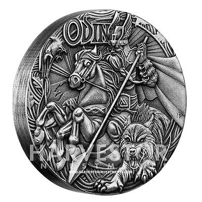 2016 Norse Gods Odin - Perth Mint New Series - Sold Out At Mint - Mintage 2000