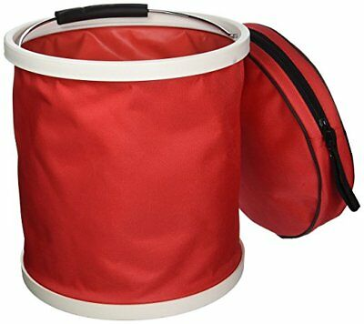 "Red ""Presto Bucket"" Lightweight Collapsible Bucket by Garden Works"