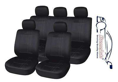 Chiswick 9 PCE Black Full Set of Seat Covers for Peugeot 206 207 208 307 407 408