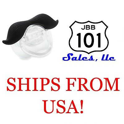 Black Hair Curl Funny Mustache BPA Free Pacifiers Baby Boys, Girls & Toddlers