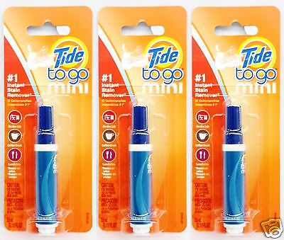 3 PENS Tide To Go Mini #1 INSTANT STAIN REMOVER Food Coffee Work Travel 3.5 mL