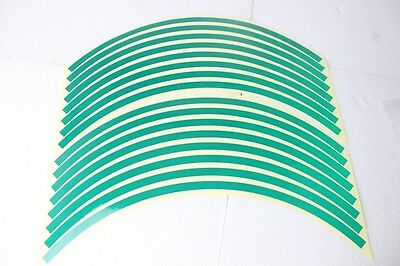 Motorcycle Reflective Rim Tape suits 17 inch rims - Green CBR 125 250 500 600