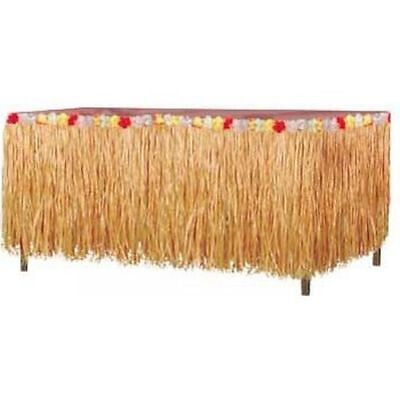 Luau Party Natural Grass Table Skirting