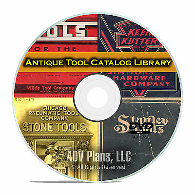 180 Antique Tool Catalogs and Brochures, Price Guides, Craftsman Stanley DVD E74