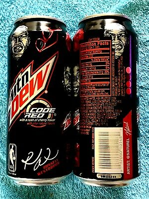 2015 MTN MOUNTAIN DEW CODE RED  16oz FULL CAN NBA RUSSELL WESTBROOK