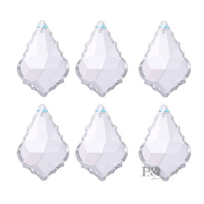 10 Clear Crystal Chandelier Rainbow Prisms Maple Leaf Hanging Drops Pendant 38mm