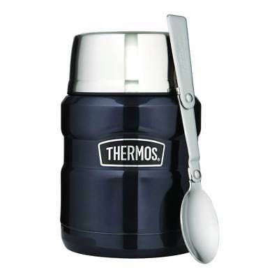 Thermos Stainless Steel King Blue Food Soup Flask 0.47 Litre