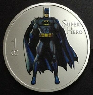 Batman Super Hero Silver Plated Coin