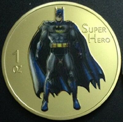 Batman Super Hero Gold Plated Coin