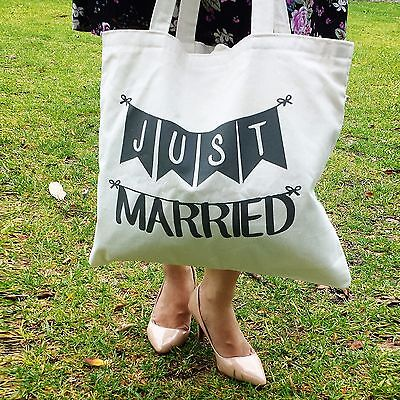 Just Married Bride Wedding Bridal Shower Gift Bridecarry Tote Bag