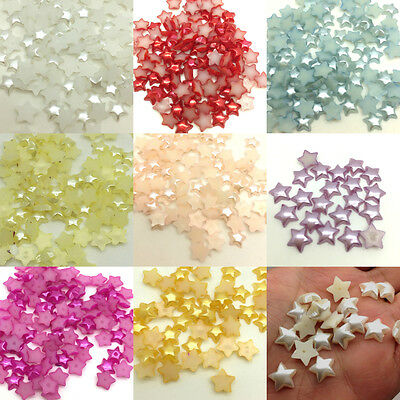 Multi-color 200pcs 6mm Pointed Star Glossy Scrapbook Flatback For Phone/Crafts