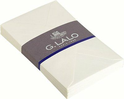 G.Lalo 25 Enveloppes Papier Verge Gommee Doublee 114 x 162 mm Blanc Umschlag