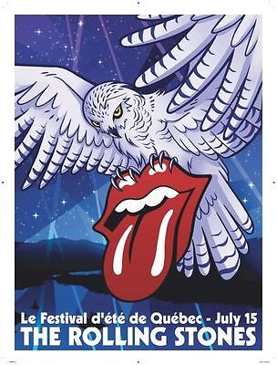The Rolling Stones 2015 Poster/Lithograph-Zip Code Tour-Quebec City
