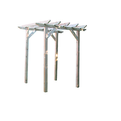 2.4m x 2.4m Wooden Garden Pergola NEW - various post lengths available