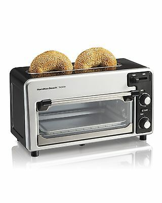 Hamilton Beach 22720 2-Slice Toaster and Small Oven Combo Black and Silver
