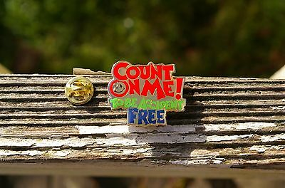 Wal-Mart Count On Me! To Be Accident Free Metal Enamel Employee Pin Pinback