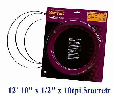 "154"" Inch (12' 10"") x 1/2"" x 10T STARRETT DURATEC BAND SAW BLADE QUALITY USA!"